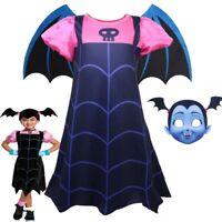 Kids Girls Vampirina Halloween Party Cosplay Costume Outfits Fancy Dress 4-9 Y