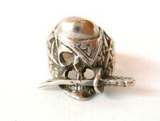 PIRATEN-Ring Silber Ring ist punziert mit 3 Simbole und Nr. 19