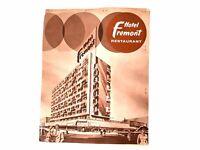 Hotel Fremont Casino Restaurant Las Vegas Nevada Vintage 1950's Cool Graphics