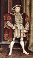 Art oil painting Holbein Hans - The King portrait Henry VIII standing canvas 36""