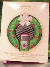 Hallmark It's Beginning to Sound Like Christmas Mp3 Player Dock 2007 Bin 3
