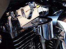 Jerzee Customs Low Pro Oil Pressure Gauge Kit for Harley DavidsonTwin Cam-Chrome