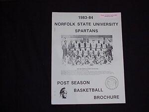 1983-1984 Norfolk State University Postseason Basketball Media Guide/Brochure