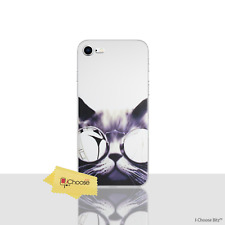 """Funny Animals Case/Cover iPhone 8 (4.7"""") / Screen Protector / Gel / Cat Glasses"""