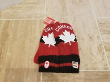 HUDSON'S BAY Vancouver 2010 Canada Olympic Red Mittens Maple Leaf Adult Knit LXL