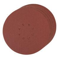 Silverline 273151 Hook/Loop Discs Punched 225mm 10pk 120 Grit