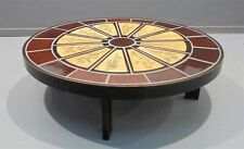 Roger Capron Vallauris - Table basse ovale 60'S - vintage coffee table design