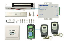 Door Buzzing System 600lbs Mag Lock Wireless Receiver & Remote Kit & Multi-Entry