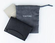 NWT TOM FORD Black 100% Pebbled Leather Envelope Card Holder Wallet $250