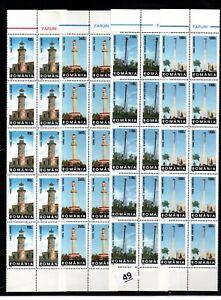 / 10X ROMANIA - MNH - ARCHITECTURE- 1998 - LIGHTHOUSE - WHOLESALE