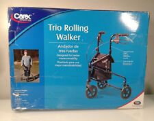 Carex Fga33300-0000 Rolling Walker w/ Height Adjustable Handles *New Open Box*