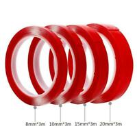 3M 5-30mm Double Sided Transparent Acrylic Foam Adhesive Tape Waterproof Strong