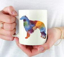 Borzoi Coffee Mug - Borzoi Lover Gift - Watercolor Borzoi Coffee Mug