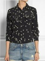 New Vogue SHIRT Black Star Womens Silk Equipment Casual SLIM SIGNATURE Print HOT