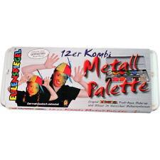 Eulenspiegel 12er Schmink-Palette in Metallbox Fasching Karneval Schminke