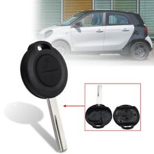 2 Buttons Remote Key Fob Case Shell Uncut Blade For Benz Mercedes Smart Forfour