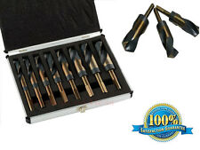 Silver and Deming Drill Bit Set with 1/2-inch Diameter Shank 8Pc Set