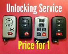 Unlocking Service Toyota Keyless Remote Smart Key - Read Description