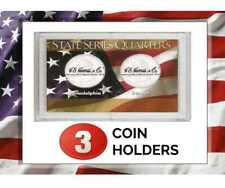 3 HE Harris Frosty Case For P & D Mint State Quarter Coins Display Storage Gift