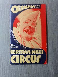 BERTRAM MILLS CIRCUS - OLYMPIA LONDON - 1939 - LEAFLET - BOOKLET - EPHEMERA