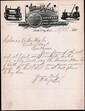 1891 Butte City MT - William M Jack Hardware Stoves Railway Supplies Letter Head