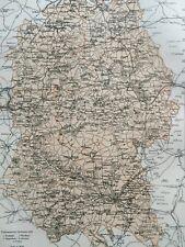 1875 Wiltshire Framed Original Antique Map UK County England Vintage Old