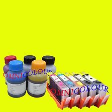 5 refillable compatible cartridge for HP564 + 500ml refill ink HP 564 364 178 NC