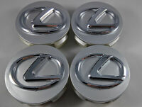 4 X LEXUS 62mm Centre Wheel Caps Silver RCF, ISF, IS200, IS250, IS350, RC350, RX