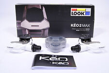 Look Keo 2 Max Road Bike Clipless Pedals,Pair,White,with Cleats