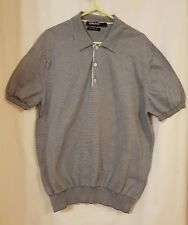 DKNY men's grey goodlooking striped top size L