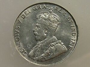 AU 1922 5¢ Five Cent Nickel CANADA ICG AU58.  #29