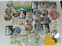 Precious Moments VINTAGE Lot of Buttons Key Chains Pins Knick Knacks and more