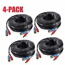 4x 30M BNC Video Power Cable Wire Cord for DVR Surveillance Security CCTV Camera
