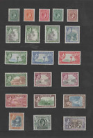 JAMAICA 1938-52 KGVI SET OF 21  (SG 121-133a)  MINT