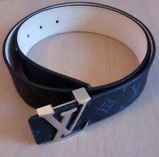 Original louis vuitton cinturón rollover 95/40 damier Cobalt *** como nuevo! ***