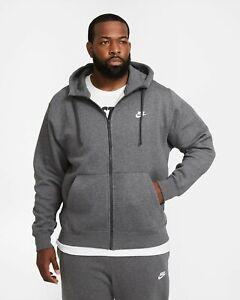 Nike Mens Club Fleece Full Zip Hoodie Jacket BV2645 size 3XLT