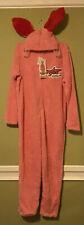 A Christmas Story Deranged Easter Bunny Pink Pajama Costume Adult Large Fleece