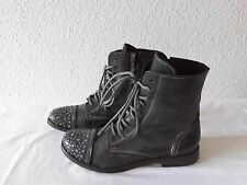Luxus- Stiefeletten Boots  I LOVE BIONDINI SHOES  Gr.39  Leder   TOP