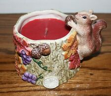 Fitz and Floyd Ceramic Squirrel Container with Candle - New