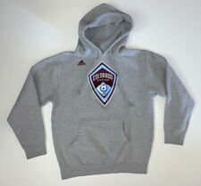 Adidas Colorado Rapids MLS Hoodie Sweatshirt Size Adult Medium Gray