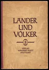 Erdkundliches Unterrichtswerk Klasse 8, Deutschland, Klett-Verlag 1953