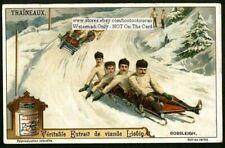 Winter Bobsledding Snow Sports 1910 Trade Ad Card