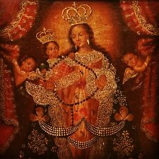 Peruvian colonial Cuzco style painting Mother of God, 18/19th century
