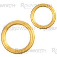 SMALL-LARGE BRASS CURTAIN RINGS 9-26mm Pole Solid Metal/Plastic Hook Fittings