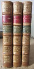 BOSSUET DISCOURS SUR L'HISTOIRE UNIVERSELLE 3 VOL RELIES BRIERE BIBLIOPHILE 1875