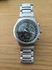 Swatch Irony Stainless Steel 4 Jewel Mens Gents Watch Rare Cheap Father's Day