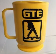 Mug GTE Yellow Pages Let Your Fingers Do The Walking Plastic Lid Cup Advertising