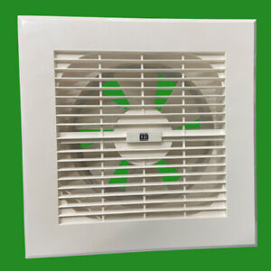 150mm White Extractor Fan Pull Chord Bathroom, Kitchen Air Vent Remove Moisture