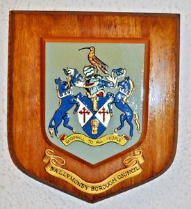 Ballymoney Borough Council wall plaque shield crest coat of arms