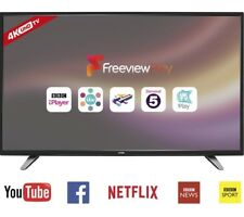 """Logik 55"""" Inch SMART 4K UHD LED TV With Built-in WiFi, Freeview Play HD & USB"""